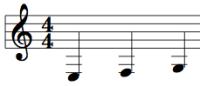 クラリネットで低いミファソのロングトーンの練習